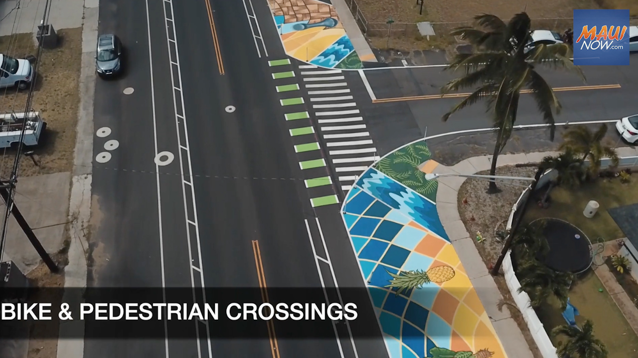 Street Safety Through Public Art Featured in Kahului Quick Build Project Video