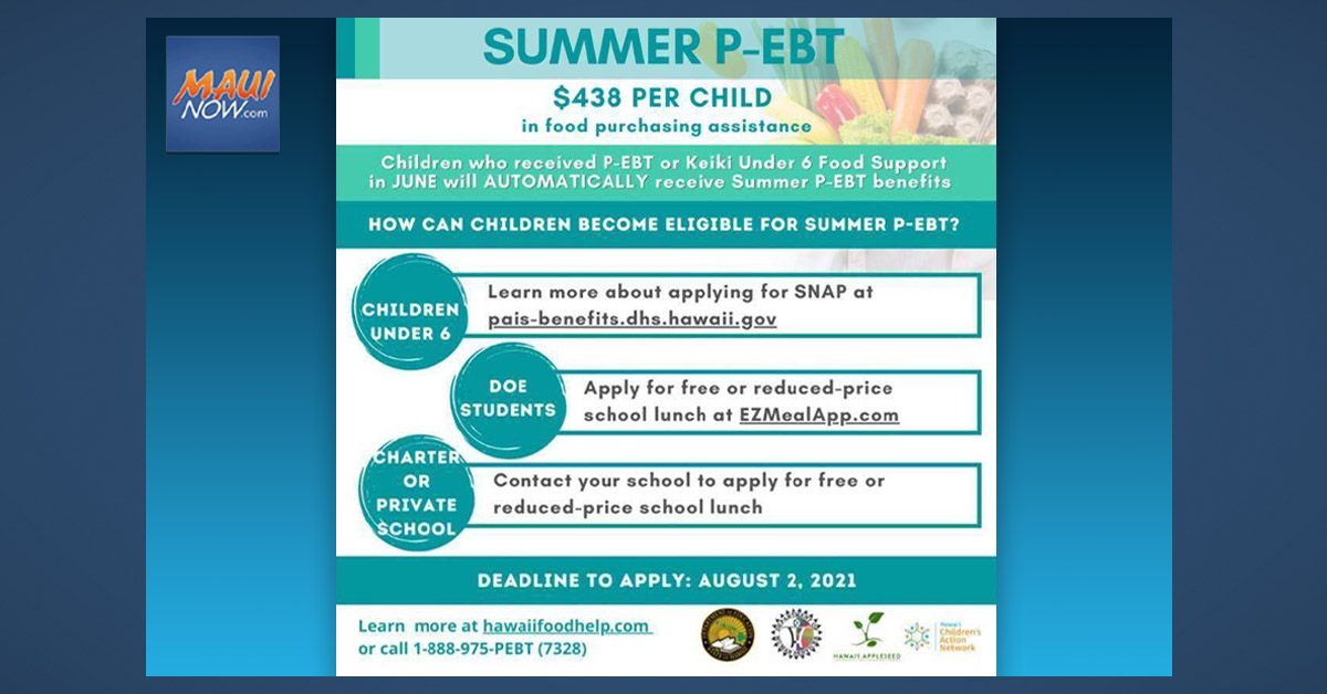 Summer P-EBT Benefits Begin to Roll Out This Week