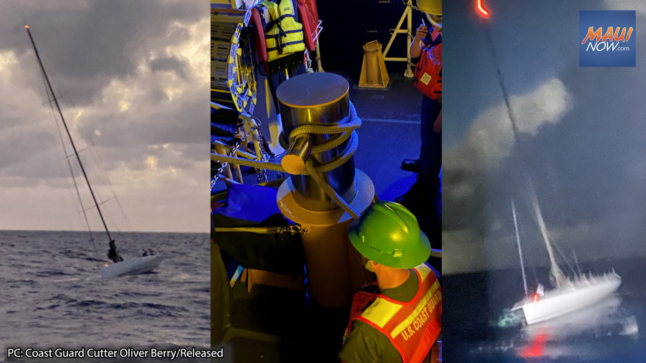 Coast Guard Rescues 15 Mariners Aboard Disabled Sail Boat off Hawaiʻi