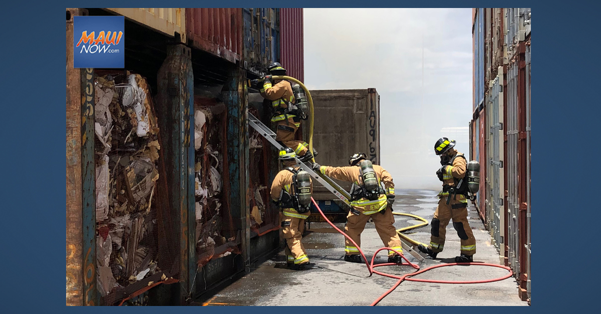 Container Fire at Kahului Harbor Results in $100,000 Damage