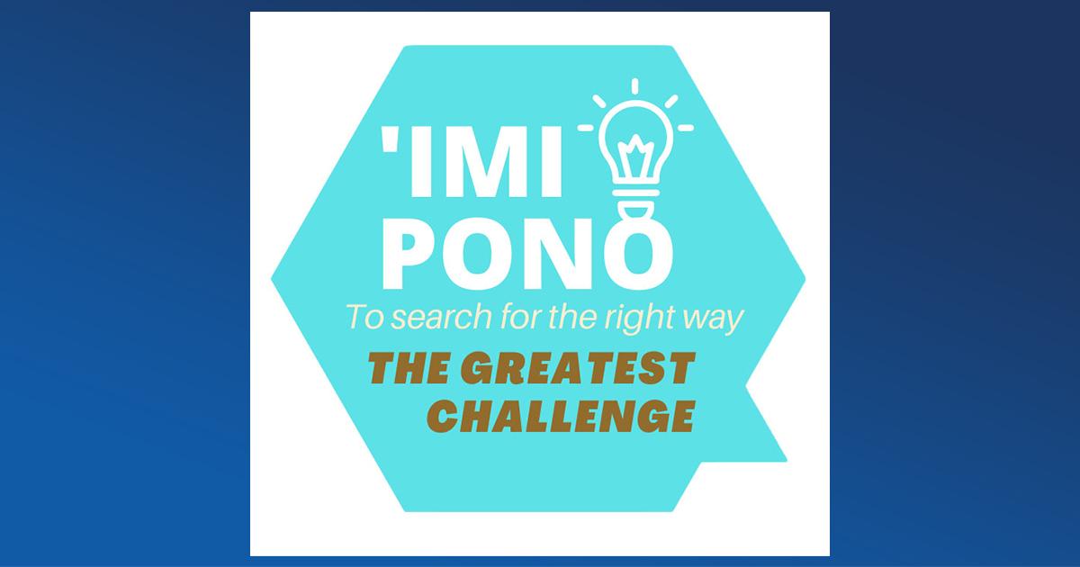 Second 'Imi Pono Challenge Invites Students to Share Ideas on COVID-19 Prevention