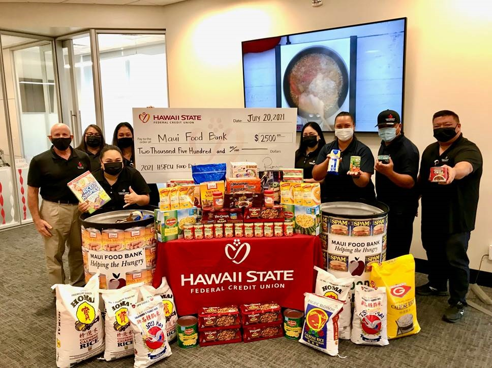 Hawaiʻi State Federal Credit Union Donates $24,500 to Food Banks
