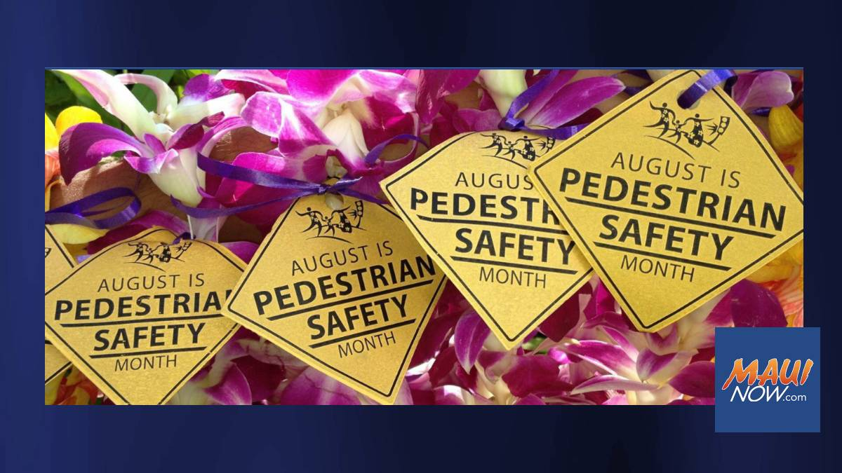 Hawaiʻi DOT & Partners Launch 12th Annual Statewide Pedestrian Safety Month