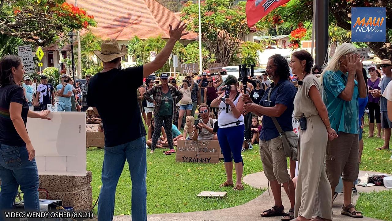 Maui Rally Draws 500, Seeking Freedom of Choice Amid Vaccination & Mask Mandates