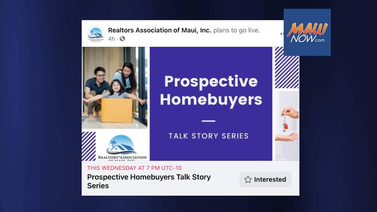 REALTORS Association of Maui Hosting Online Homebuyers Event Aug. 11