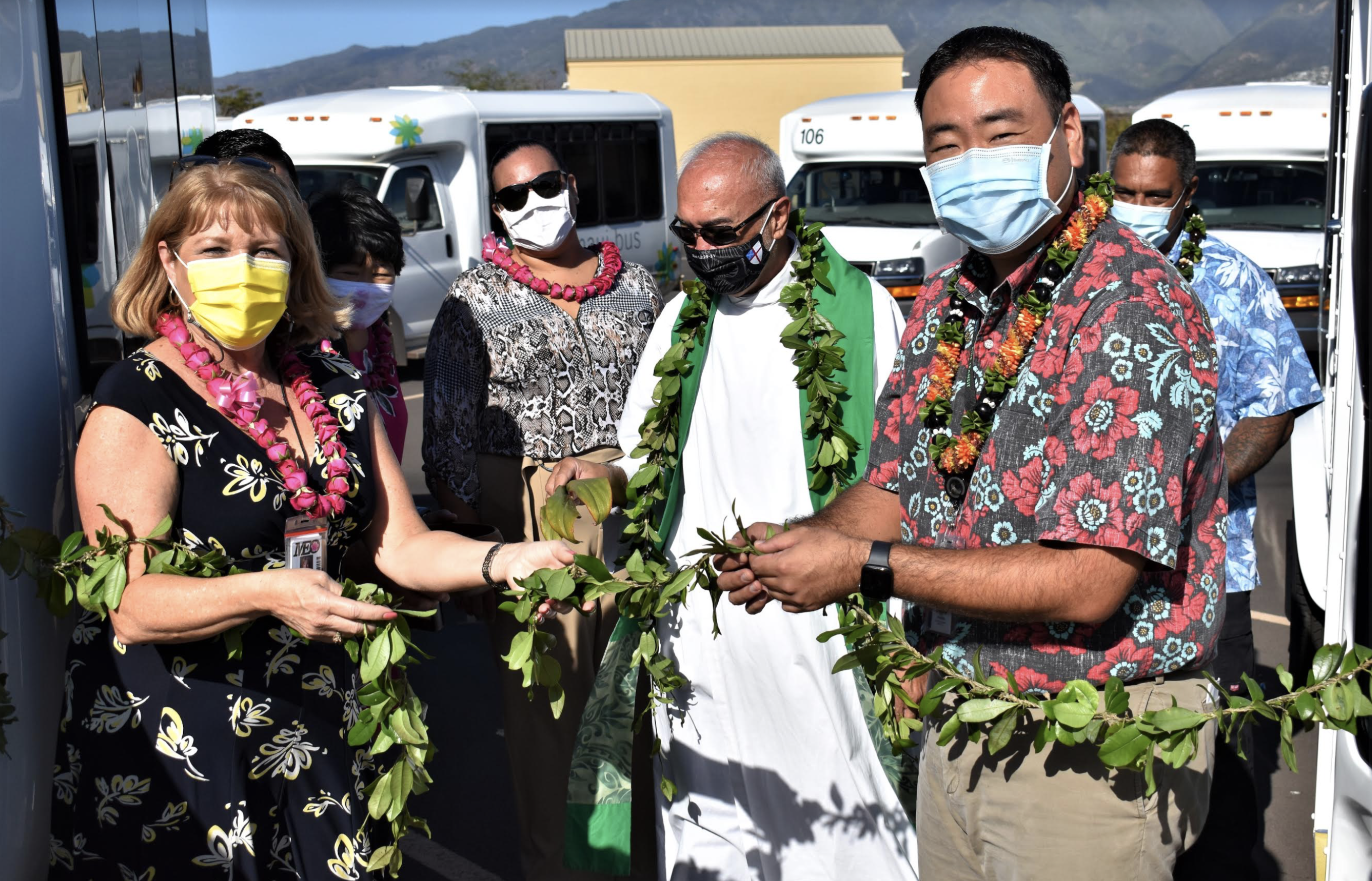 10 New Maui County Paratransit Buses Blessed