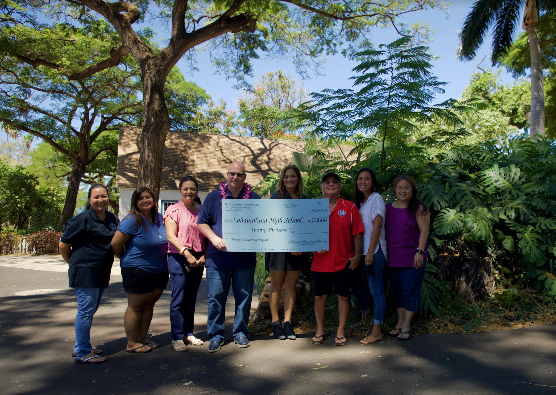 The Westin Maui in Kāʻanapali Donates $20K to Lahainaluna High School