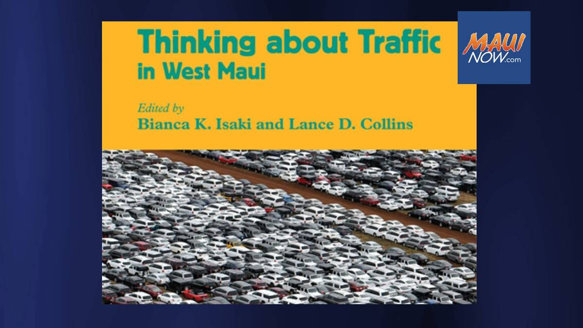 New Book by Local Authors Explores Traffic Solutions for West Maui