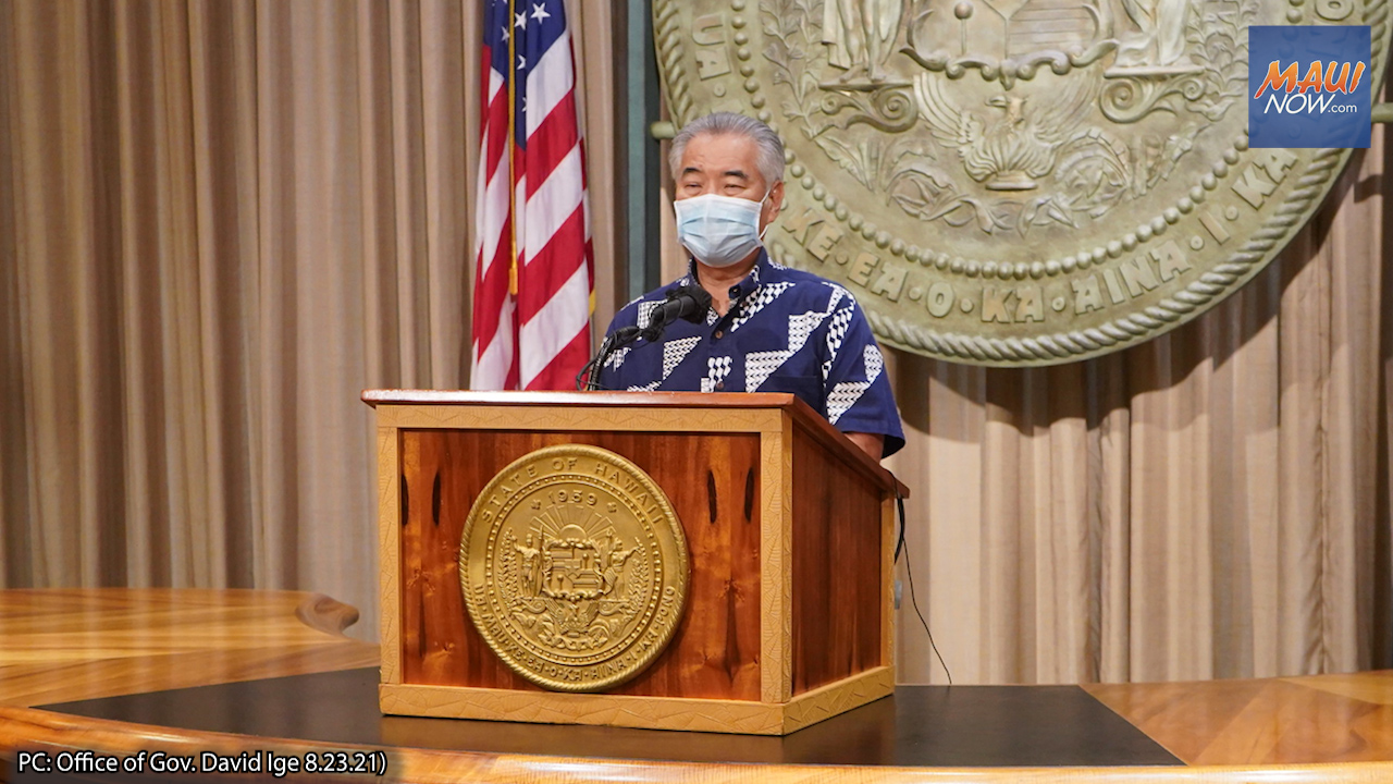 Hawaiʻi Gov. Ige Urges Travelers to Refrain From Non-Essential Travel to End of October