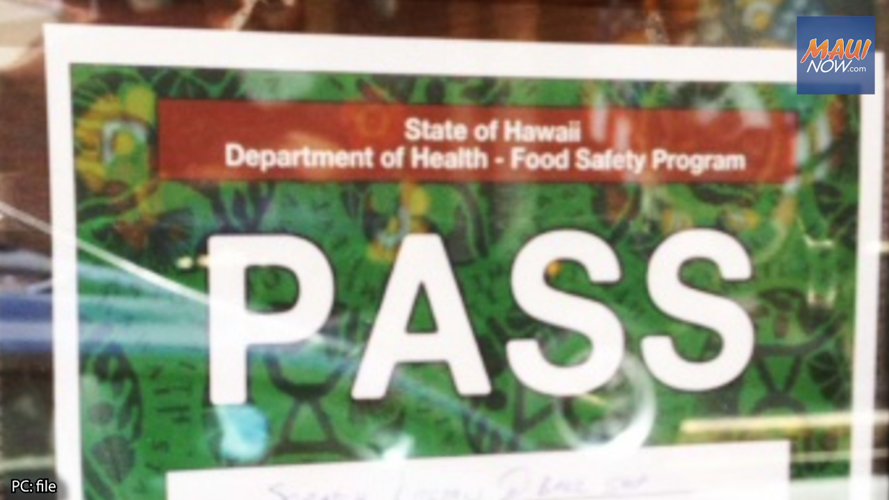 Health Dept. Allows Maui Restaurant to Reopen After Corrective Actions