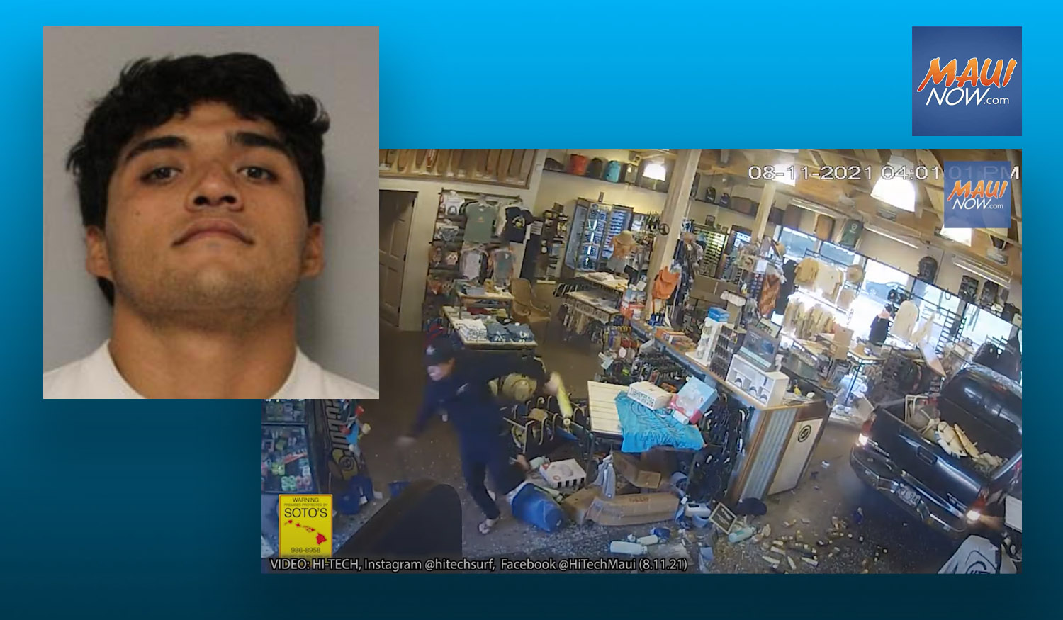 Maui Man Accused of Driving Into Surf Store Held on $50,000
