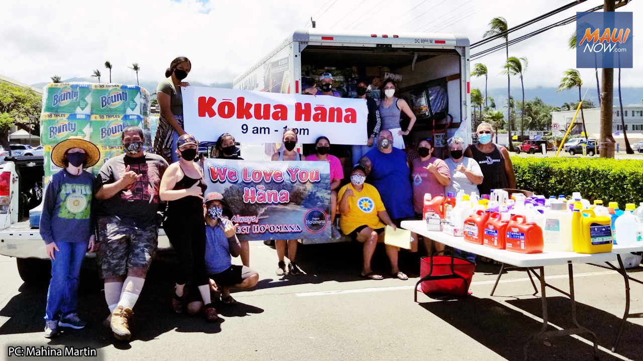 Kōkua Hāna Donation Drive Held in Support of COVID Response in East Maui