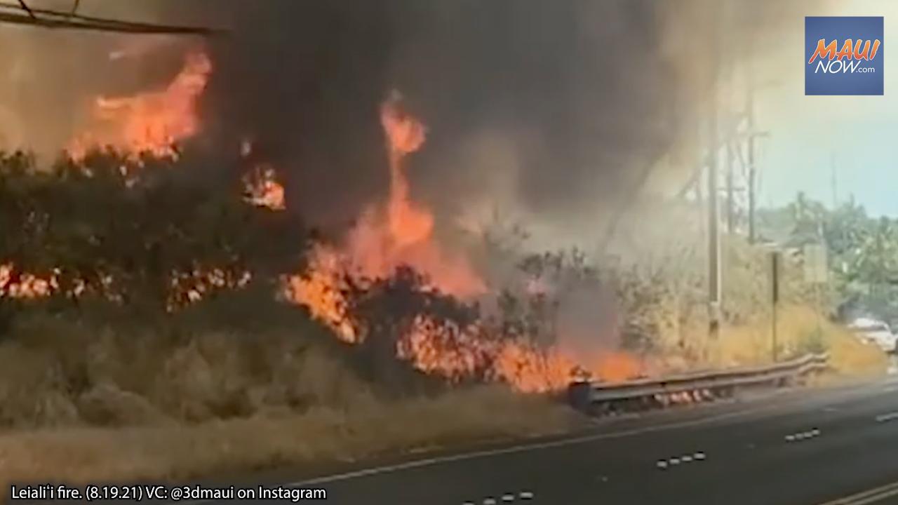 UPDATE: 6 Acres Burned, West Maui Fire 80% Contained, Honoapiʻilani OPEN