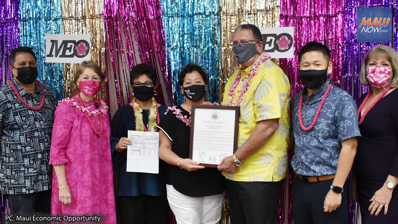 Mayor Victorino Honored at Maui Economic Opportunity Virtual Gala