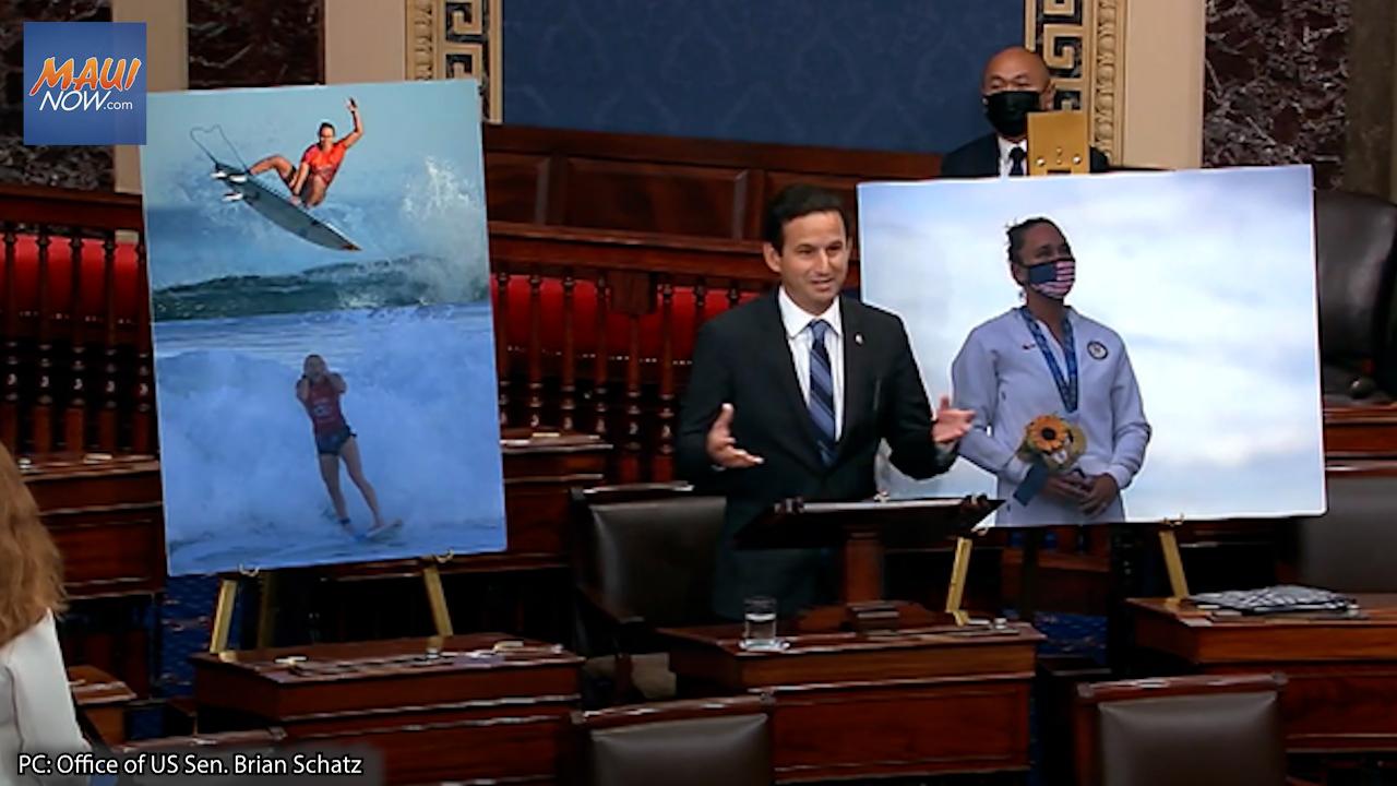 Schatz Celebrates Hawai'i Surfer Carissa Moore's Olympic Gold Medal Win On Senate Floor