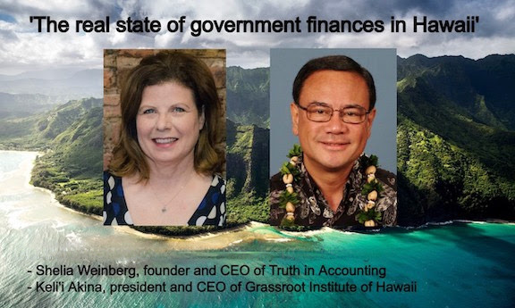 Truth in Accounting CEO Speaking at Grassroot Institute of Hawaiʻi Event on Maui