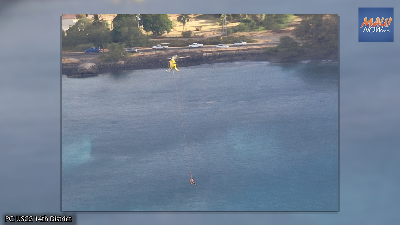 VIDEO: Maui Paddleboarder Airlifted After Nearly 12 Hour Overnight Search in Olowalu