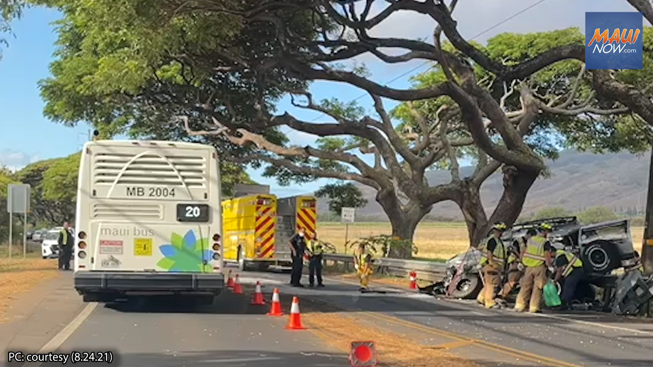 VIDEO: Morning Accident in Waikapū