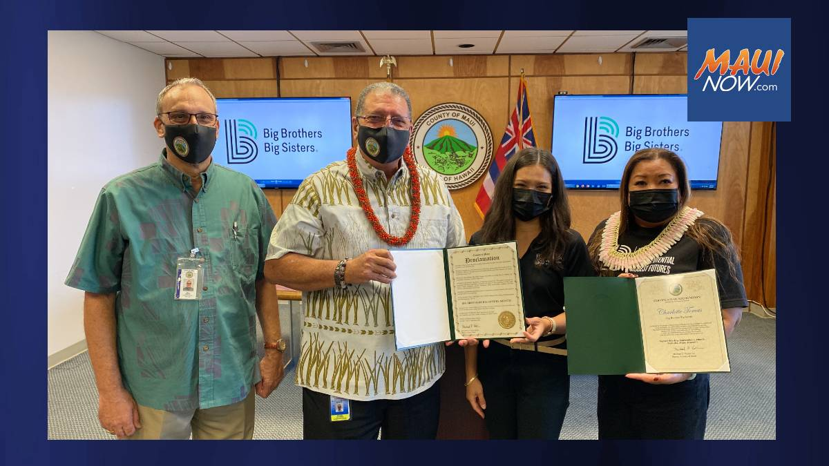 September is Big Brothers Big Sisters Month in Maui County