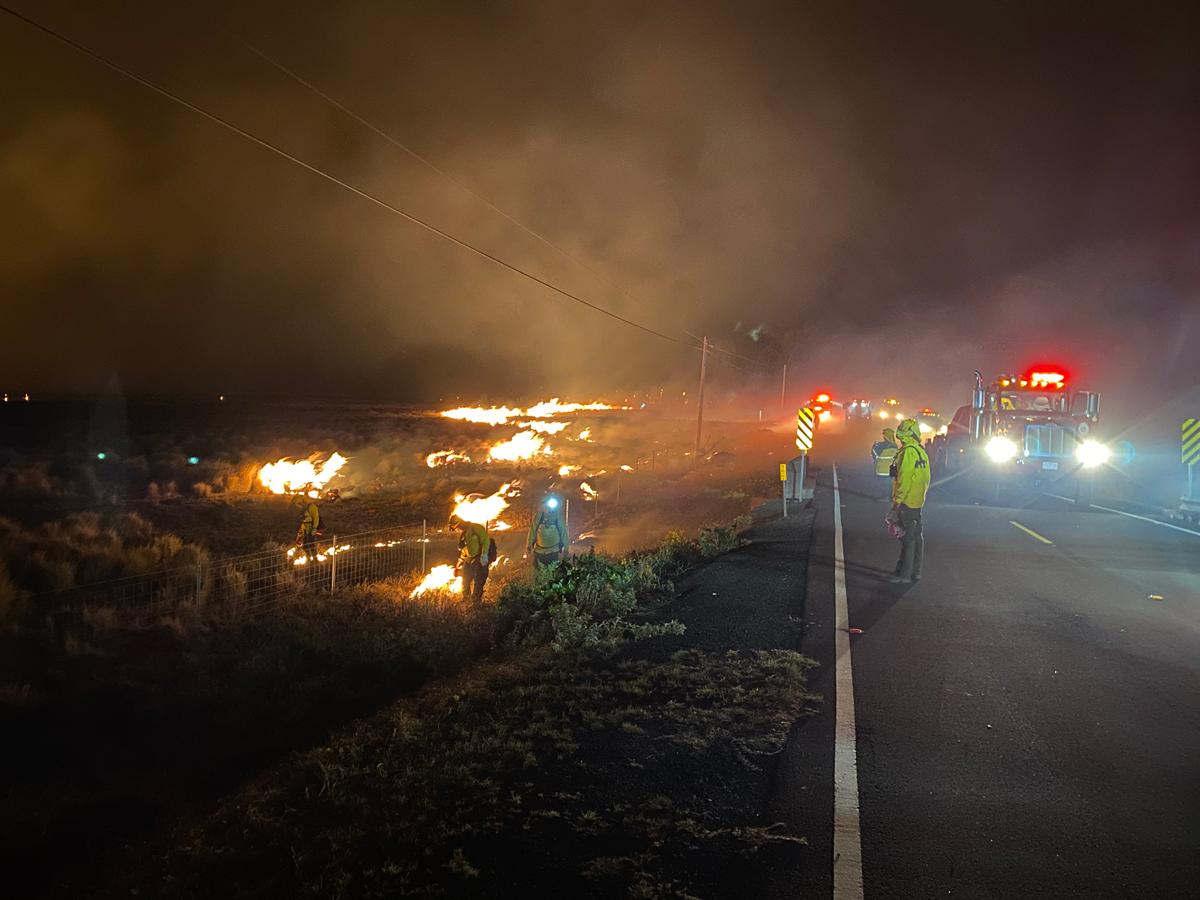 DLNR: Mana Road Fire Fight was a Community Effort