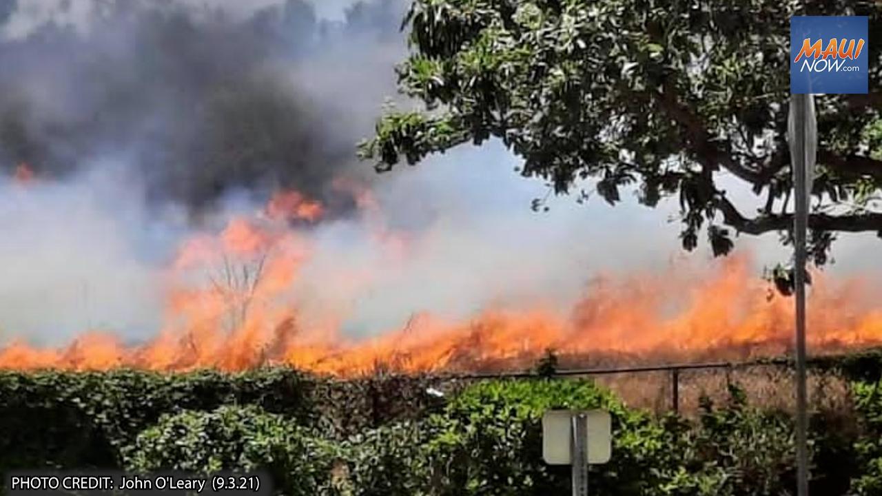 UPDATE: Kīhei Brush Fire Contained, 1.25 Acres Burned Near Līloa Drive