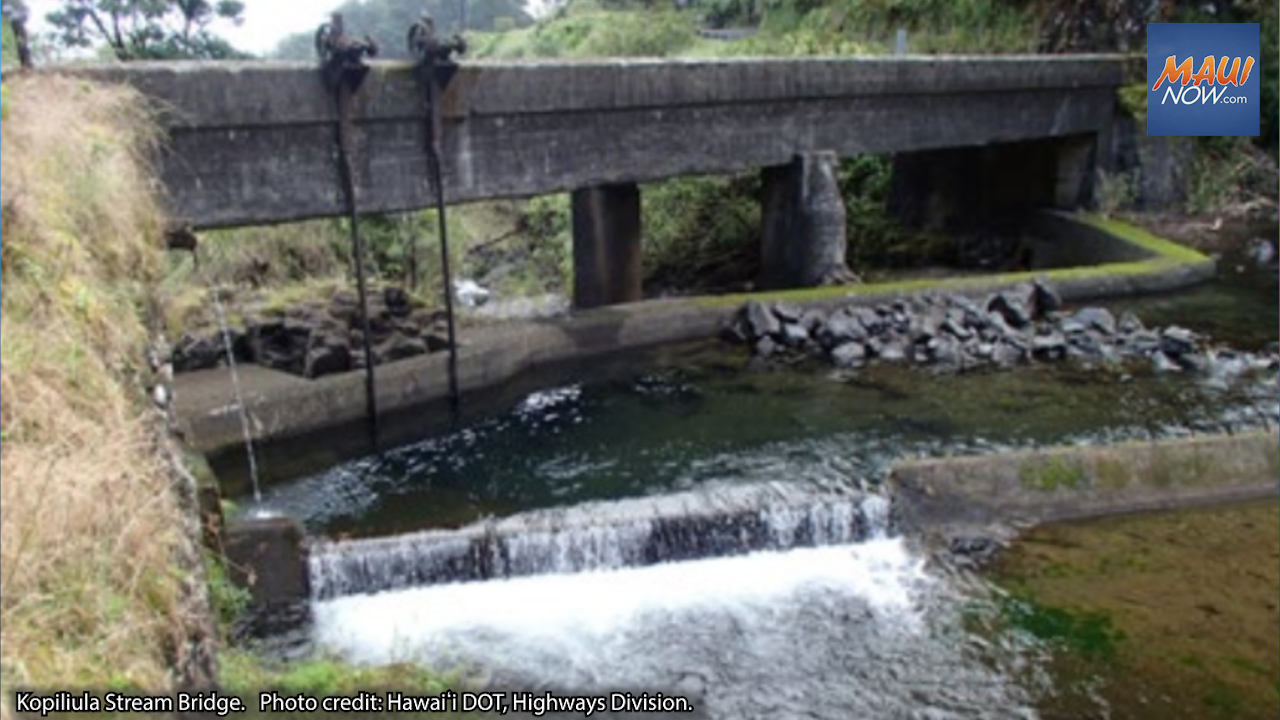 Virtual Public Meetings for Hāna Highway Bridge Improvements Project, Sept. 21, 22