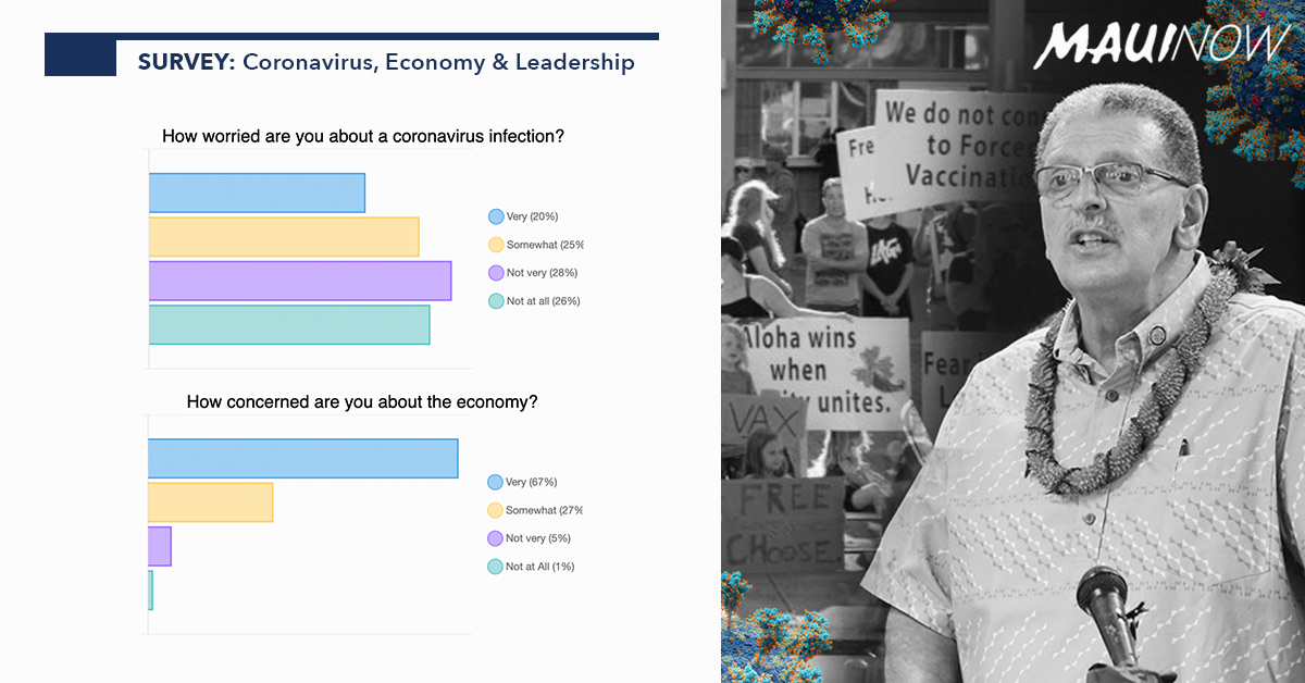 Maui Now Survey: Respondents Divided on Coronavirus Concerns, Majority Very Concerned About Economy