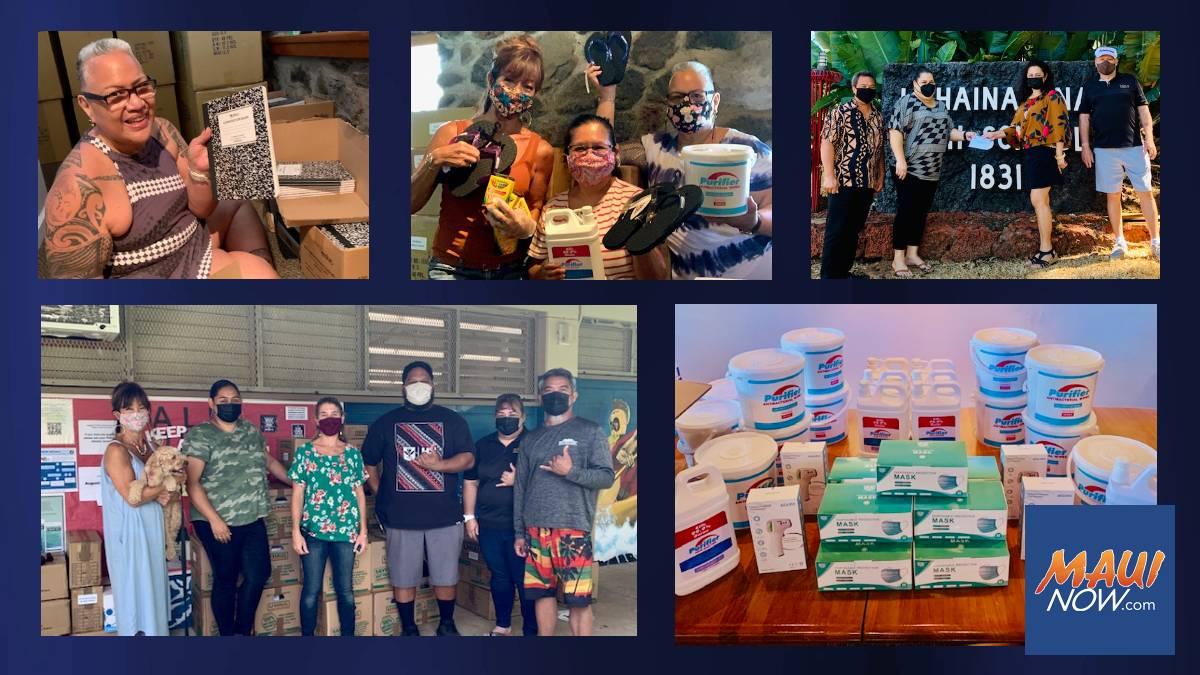 Restaurant Group Nā Hoaloha ʻEkolu Donates to Maui Schools in Need