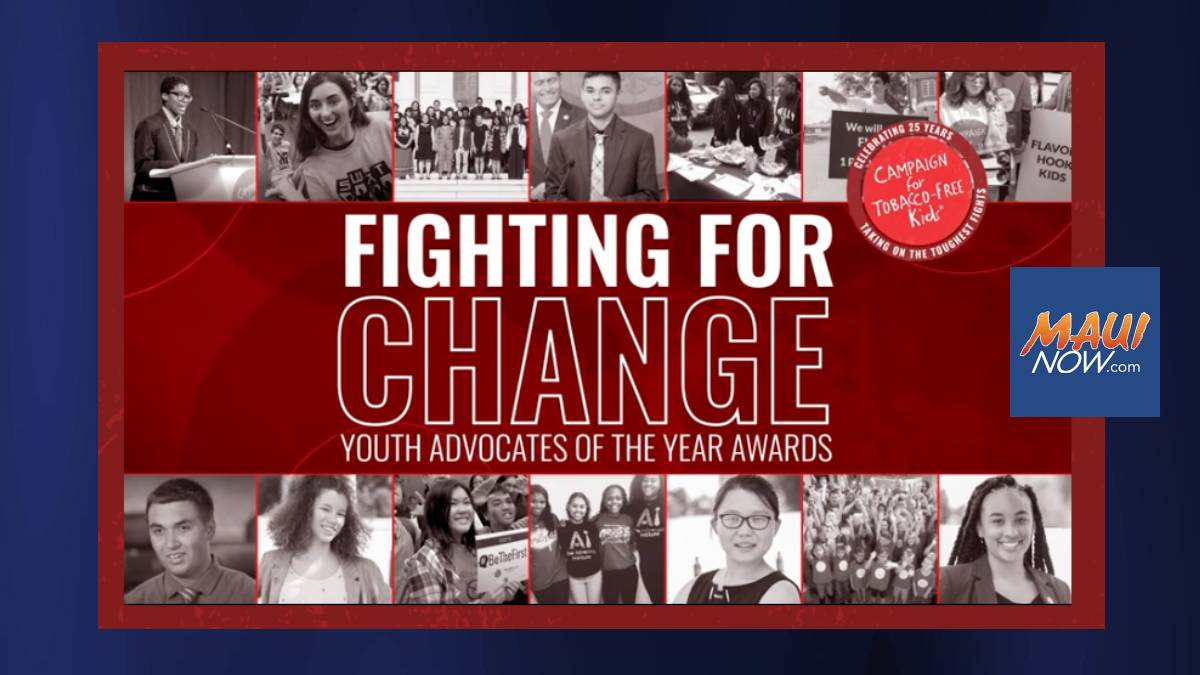 Tobacco-Free Hawaiʻi Youth Council Honored with National Award