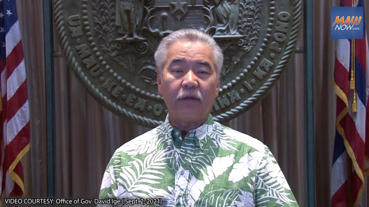 Gov. Ige Urges Responsible Behavior Over Labor Day Weekend