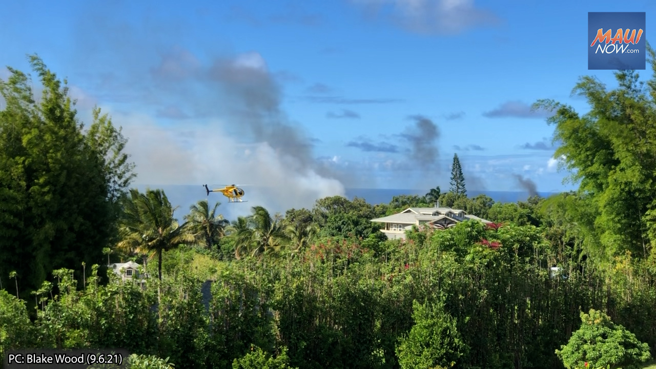 Haʻikū Brush Fire Burns 3.5 Acres, Now 100% Contained