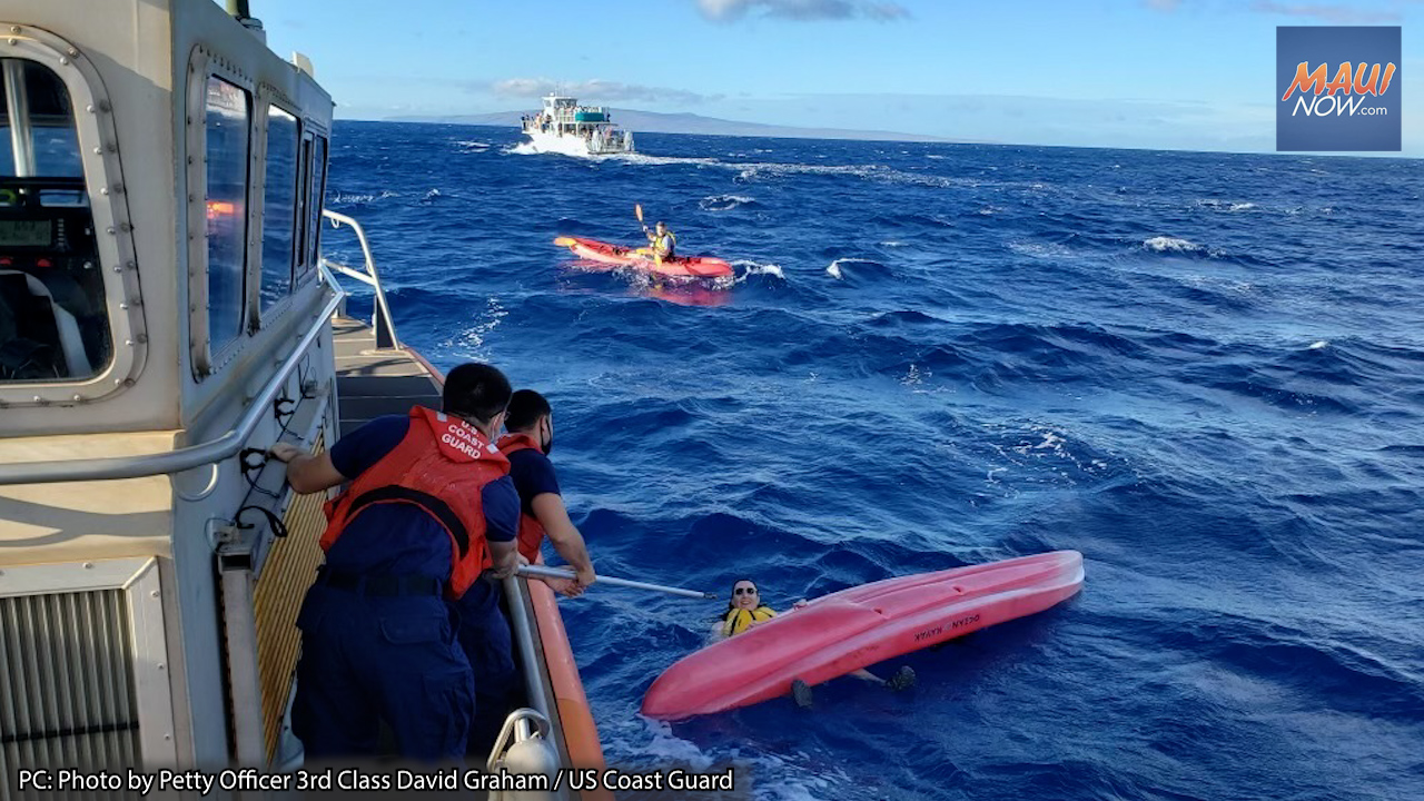 Crews Rescue Two People After One Kayak Capsizes off Maui