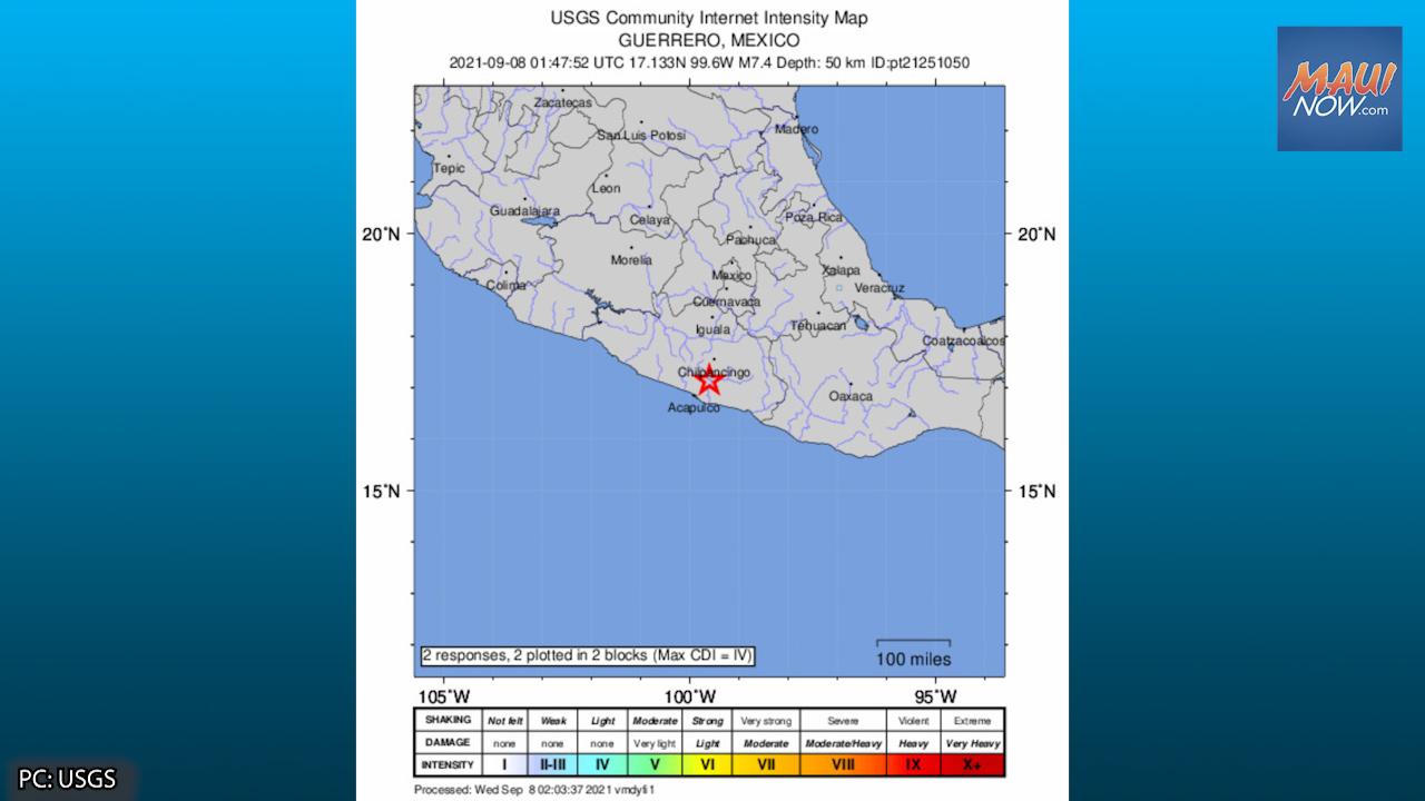 No Tsunami Threat After 7+ Mexico Quake