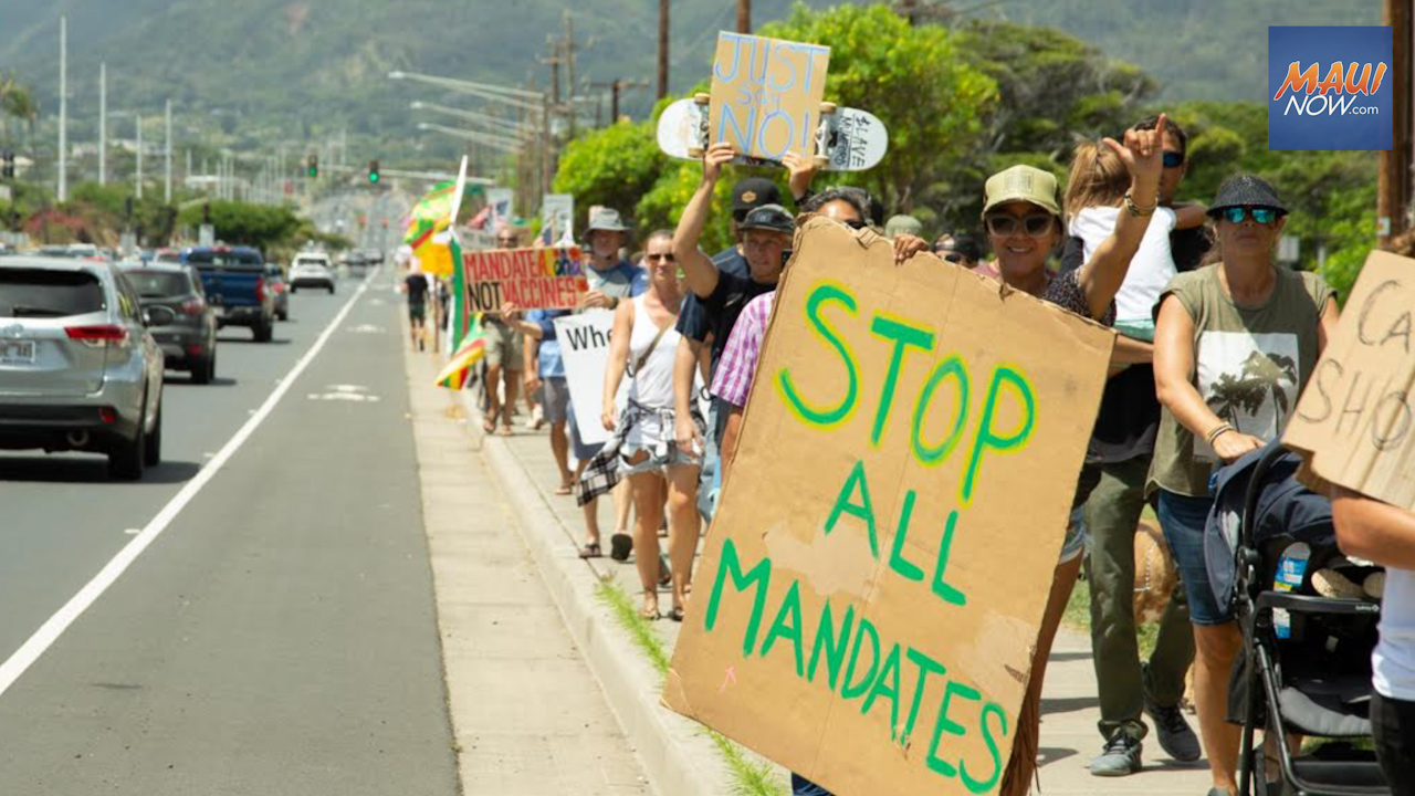 """Attendance Swells at """"Mandate-Free Maui"""" March and Rally"""