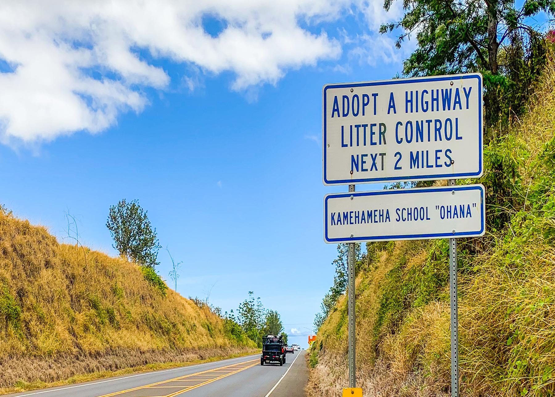 Adopt-A-Highway Volunteerism Award Goes to Kamehameha Schools Maui