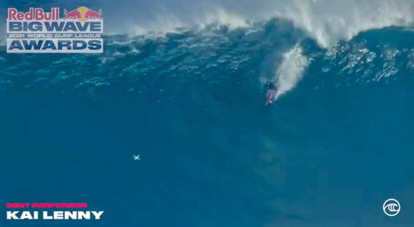 Maui's Kai Lenny Nominated for 2021 Red Bull Big Wave Awards