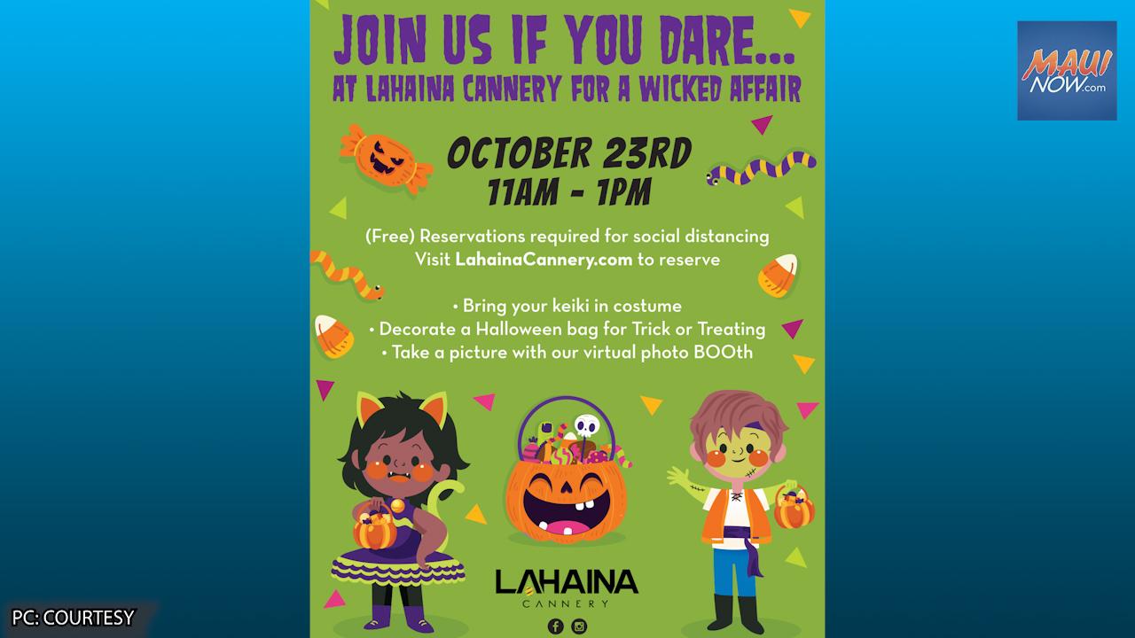 Lahaina Cannery Hosts Keiki Halloween Event, Oct. 23