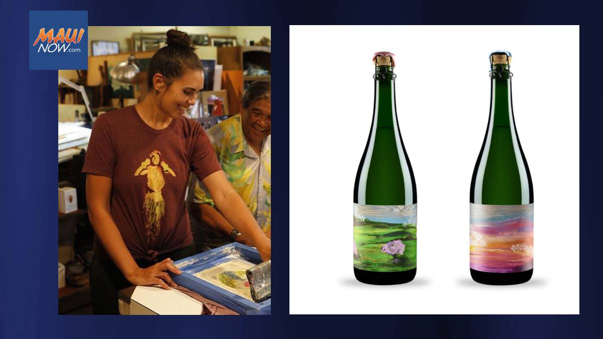Local Artist Creates Two Custom Prints for  Limited Edition of MauiWine