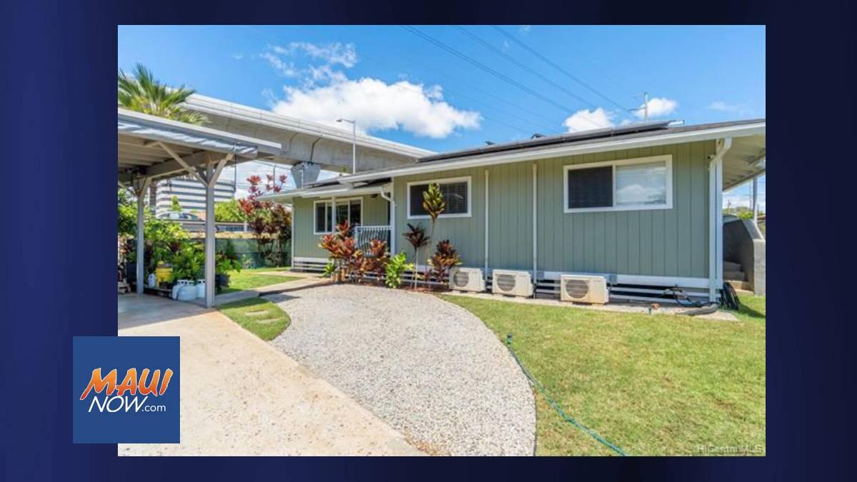 Median Price for Oʻahu Single-Family Homes Rose to $1,050,000 for September