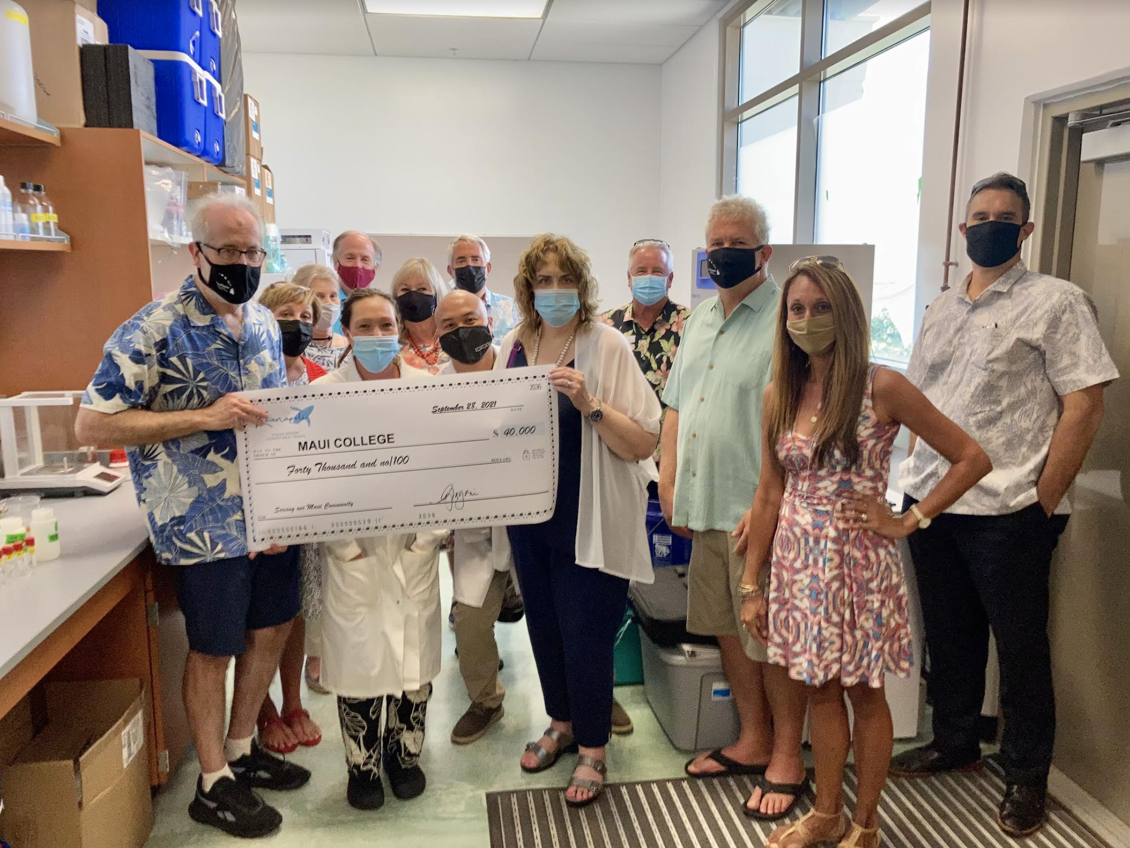 Water Quality Lab Receives Donation from Kā'anapali Ocean Resort Charitable Trust