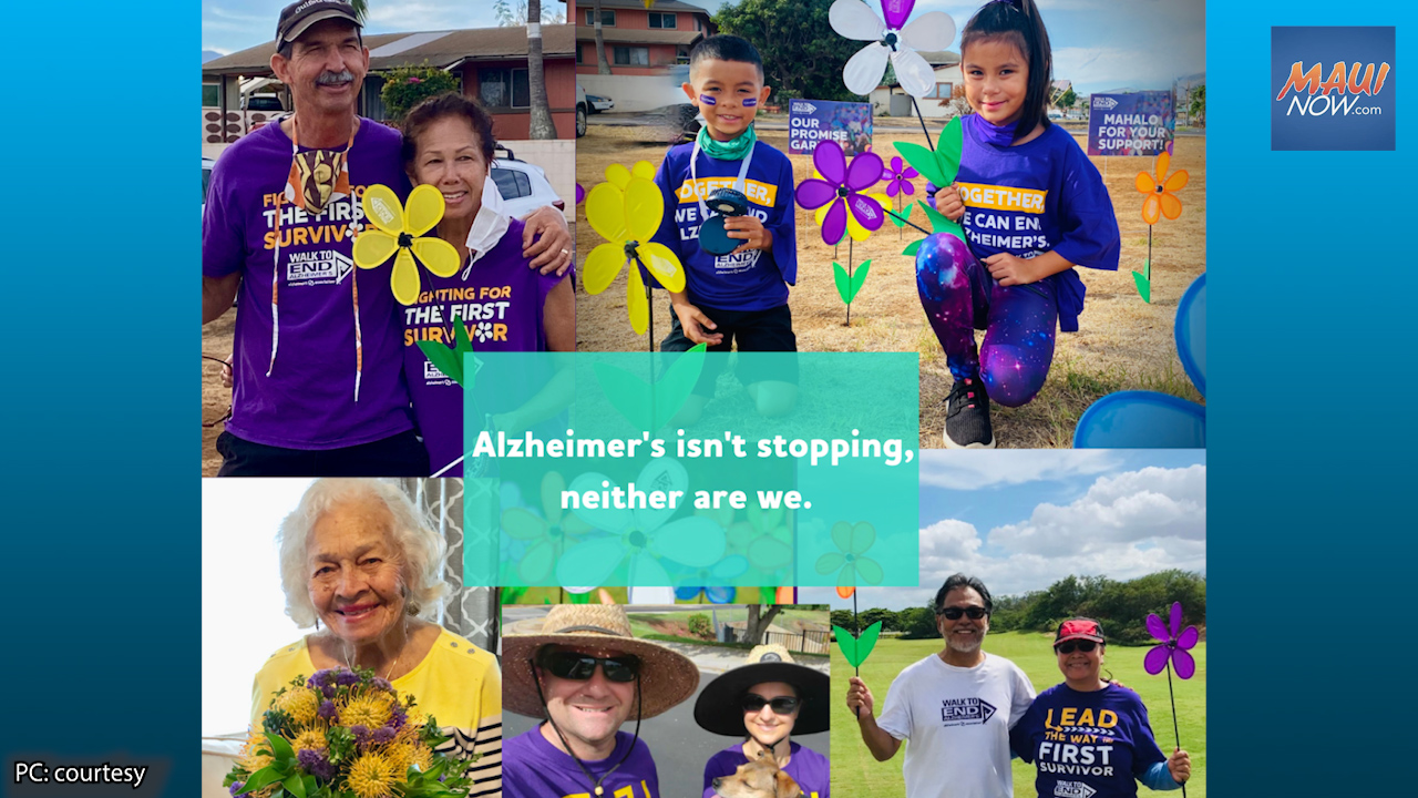 2021 Walk to End Alzheimer's Maui Event Shifting to Walk from Home, Oct. 16