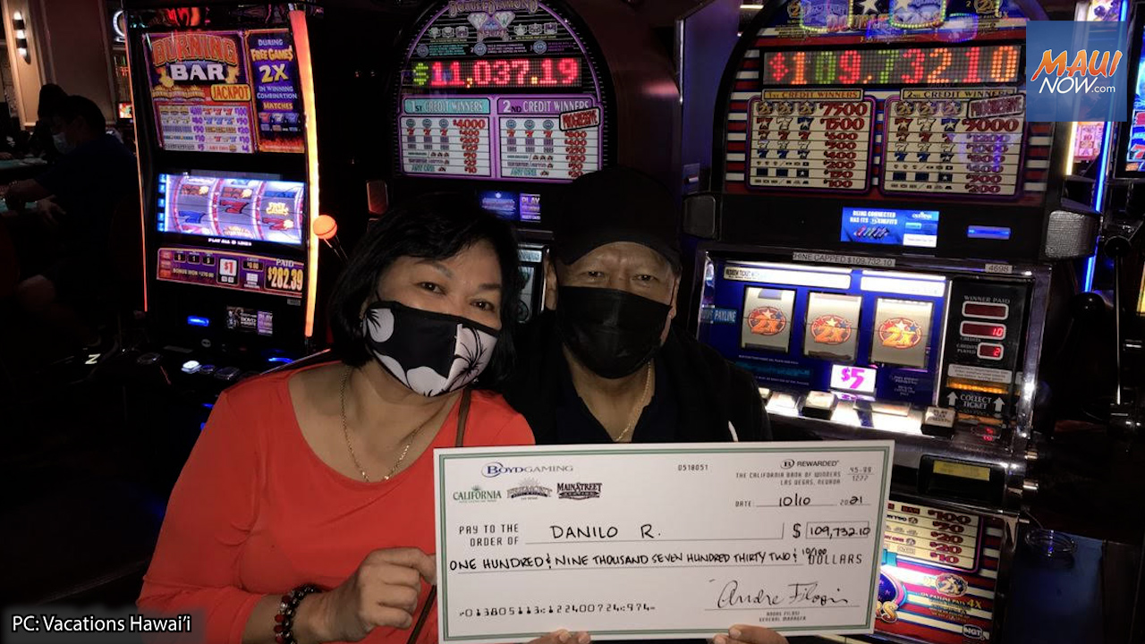 Former Hawai'i Resident Wins Nearly $110K on Slots at the California Hotel and Casino