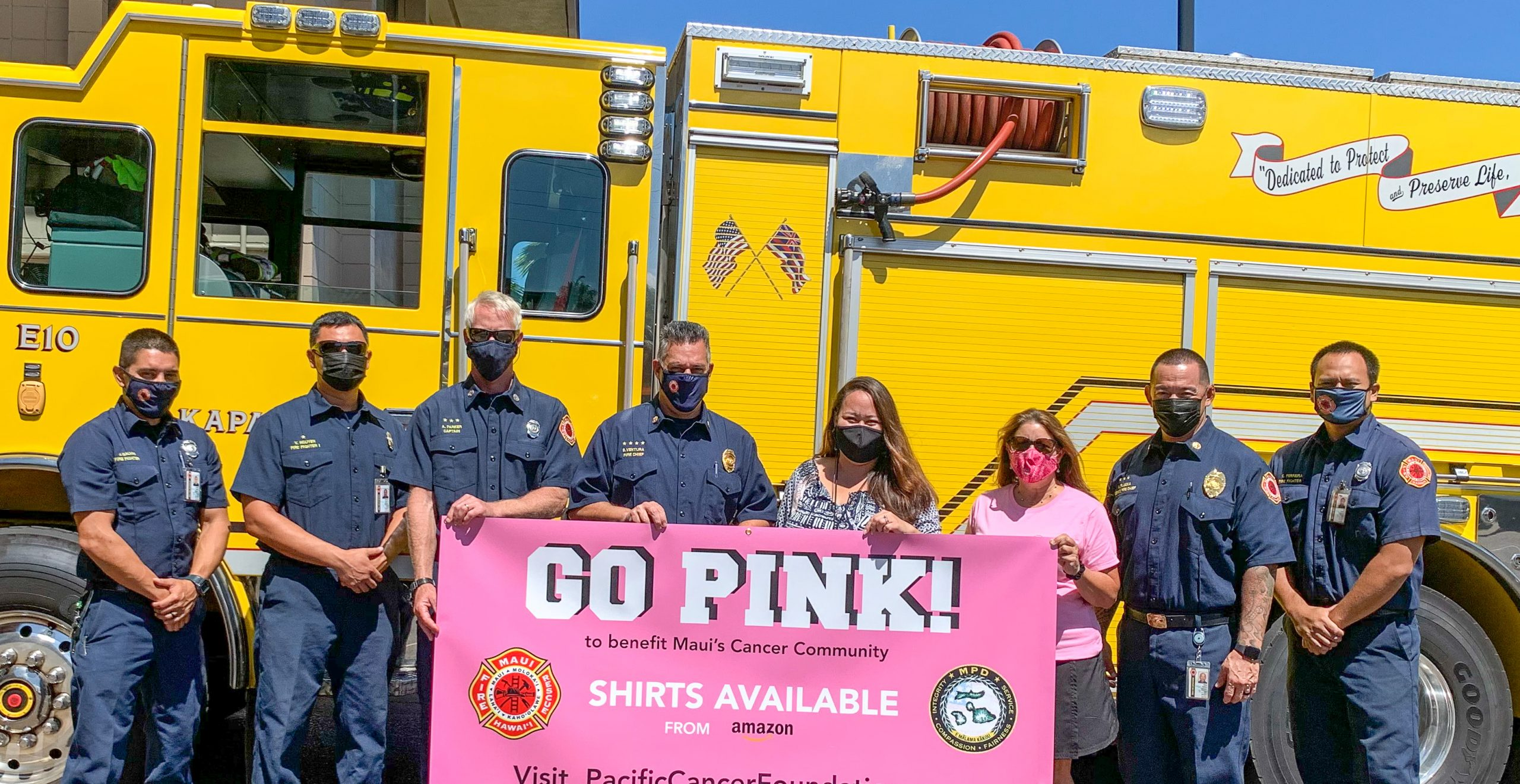 Maui Police & Fire Selling Go Pink! T-Shirts To Support Cancer Foundation