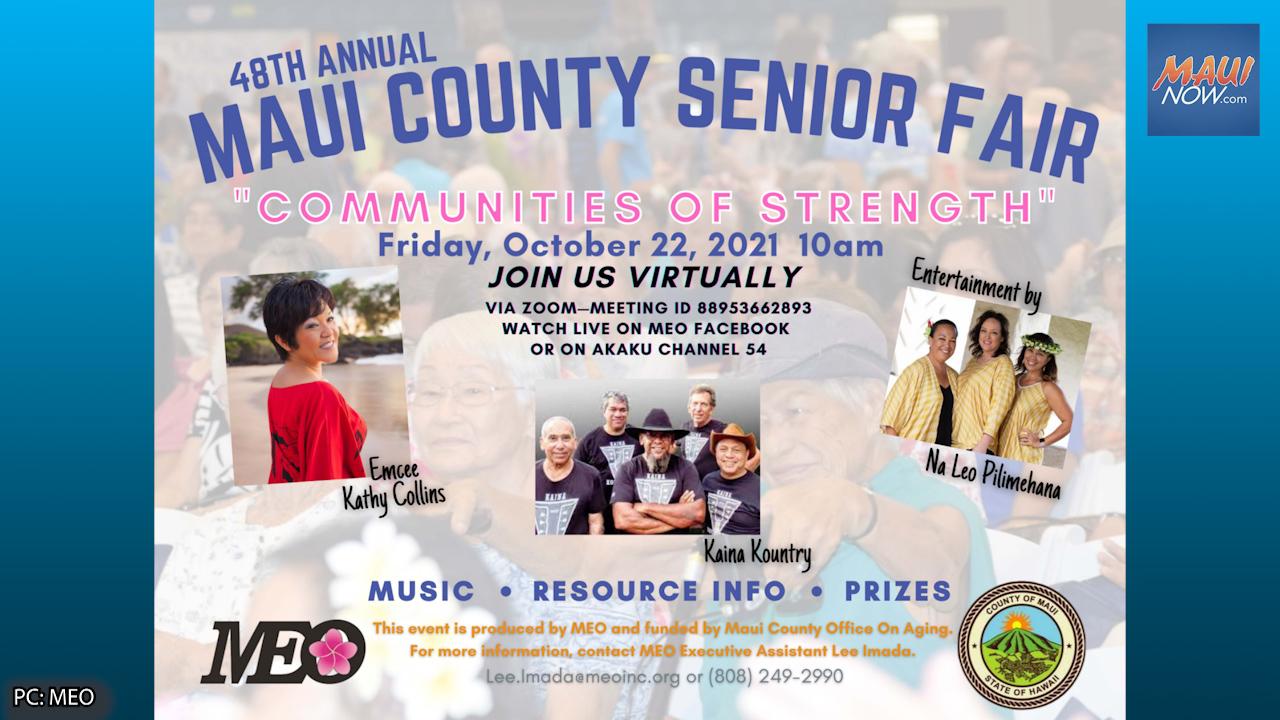 48th Annual Maui County Senior Fair, Oct. 22
