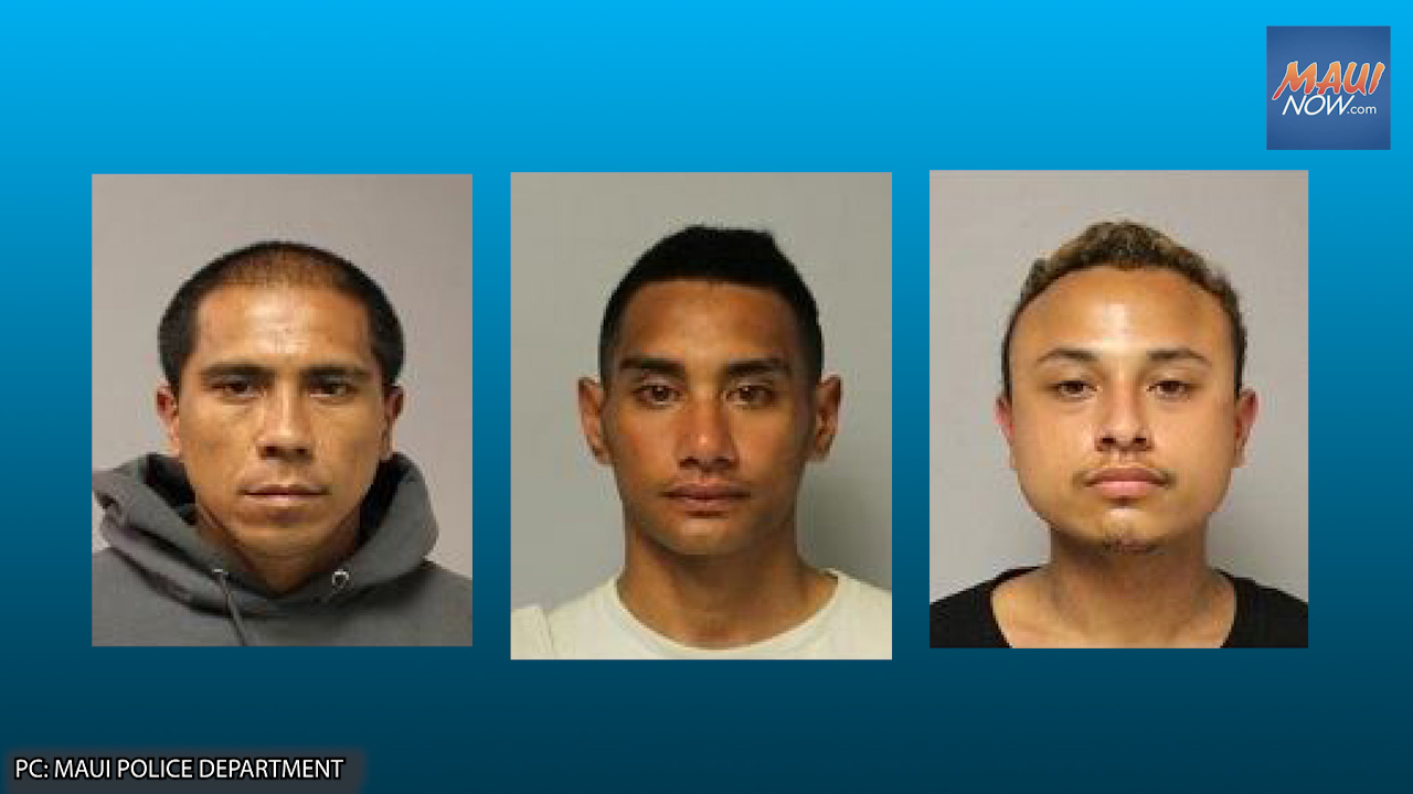 Three Arrested in Connection with String of Vehicle and Property Thefts Across Maui