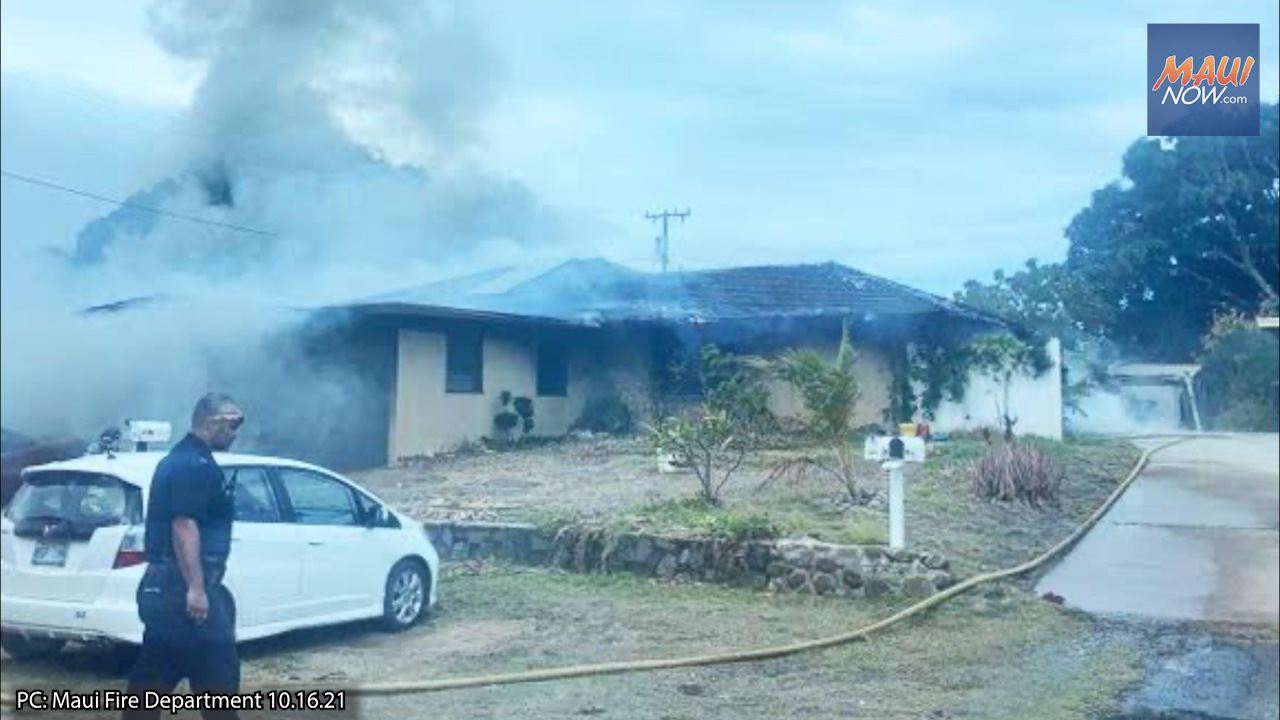 Kahului House Fire Causes $123,000 in Damage, Four People Displaced