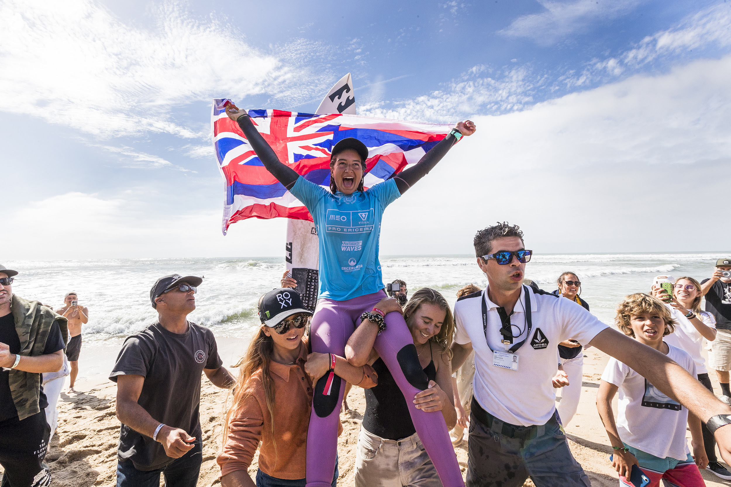 Clean Sweep for Hawaiʻi, Lau and Silva Win 2021 Surf Contest in Portugal